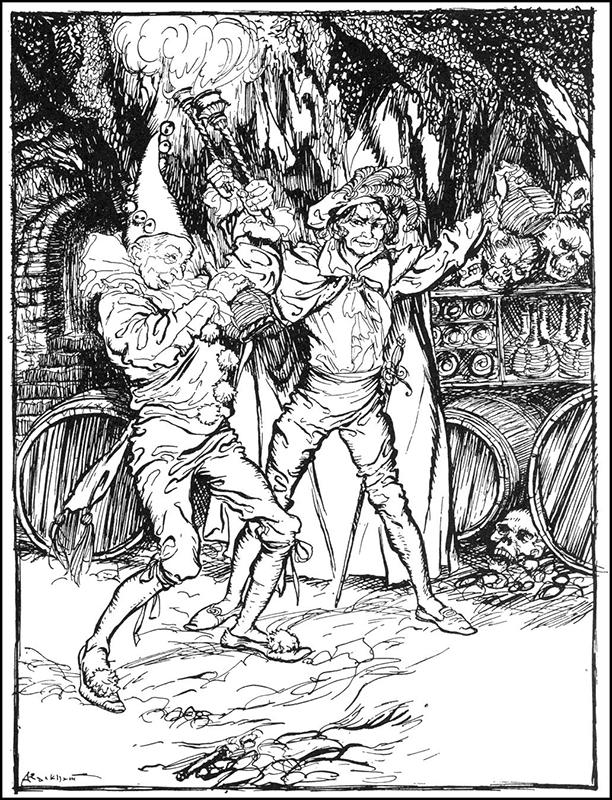 Fortunato-e-Montresor-ilustração-de-Arthur-Rackham