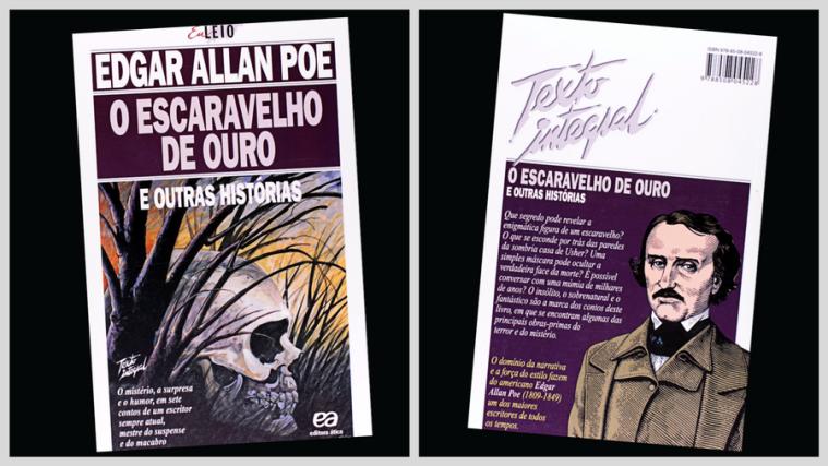 Capa-e-contracapa-O-escaravelho-de-ouro-Editora-Ática.