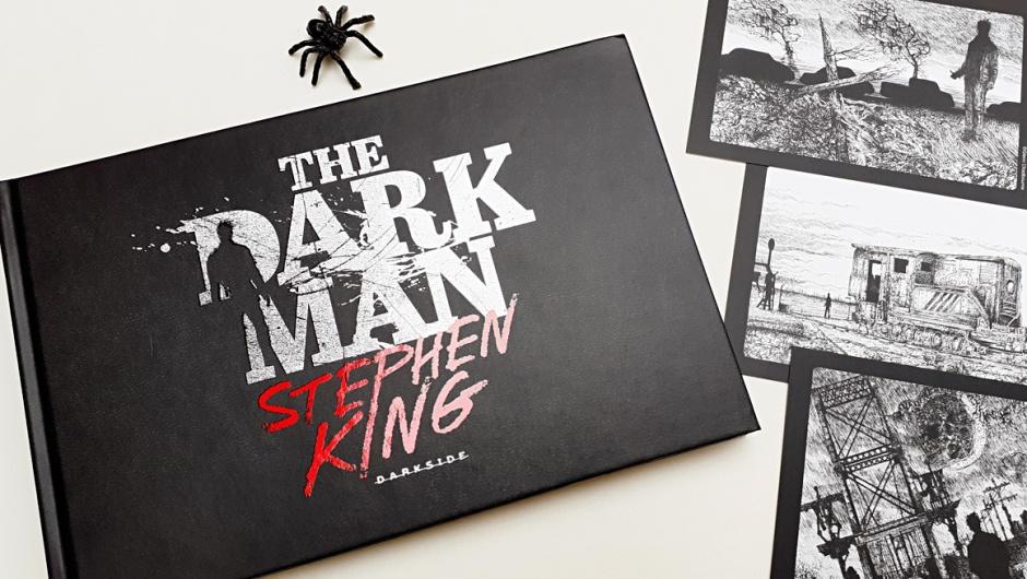 Capa do livro The Dark Man, de Stephen King e Glenn Chadbourne, publicado pela DarkSide Books.