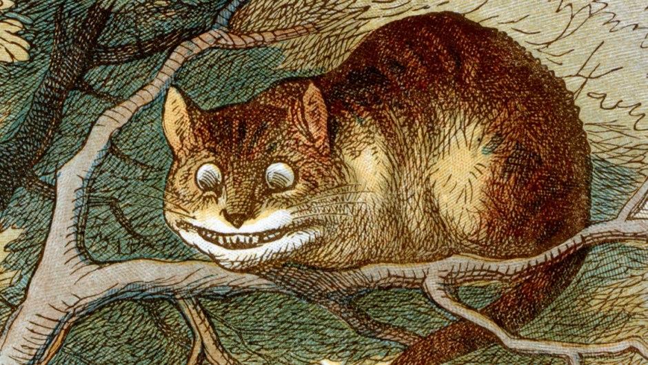O gato de Cheshire, de Alice no País das Maravilhas.