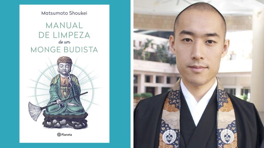 Capa de Manual de limpeza de um monge budista e seu autor, Keisuke Matsumoto.