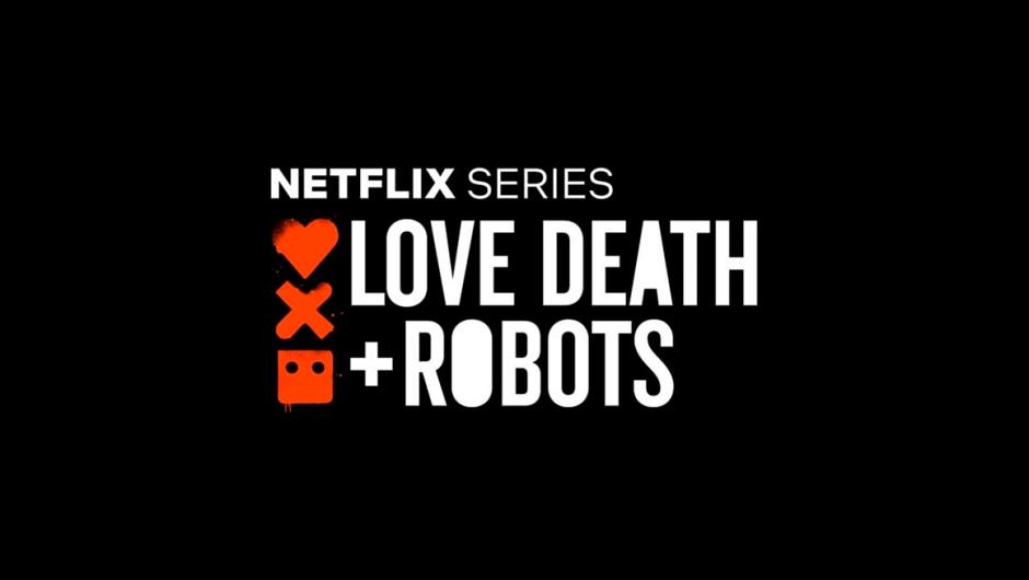Logo da série Love, Death + Robots, da Netflix.