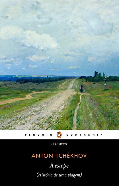 Capa do livro A estepe, de Tchekhov.