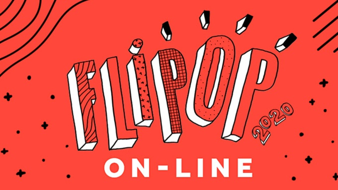 Logo da Flipop 2020