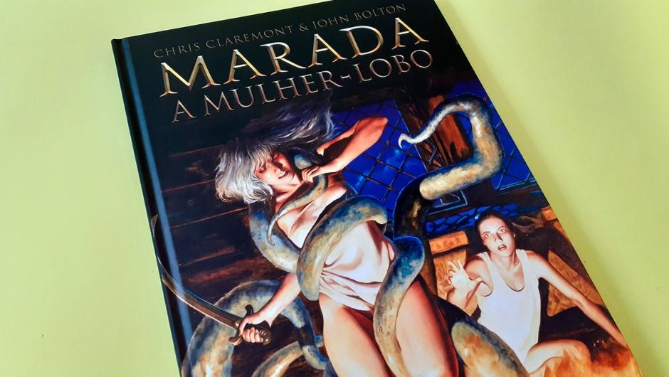Capa da HQ Marada: a Mulher-Lobo, publicada pela editora Pipoca & Nanquim.