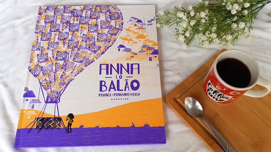 Capa da resenha de Anna e o Balão, publicado pela DarkSide Books.