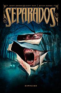 """Capa da HQ """"Separados"""", publicada pela DarkSide."""