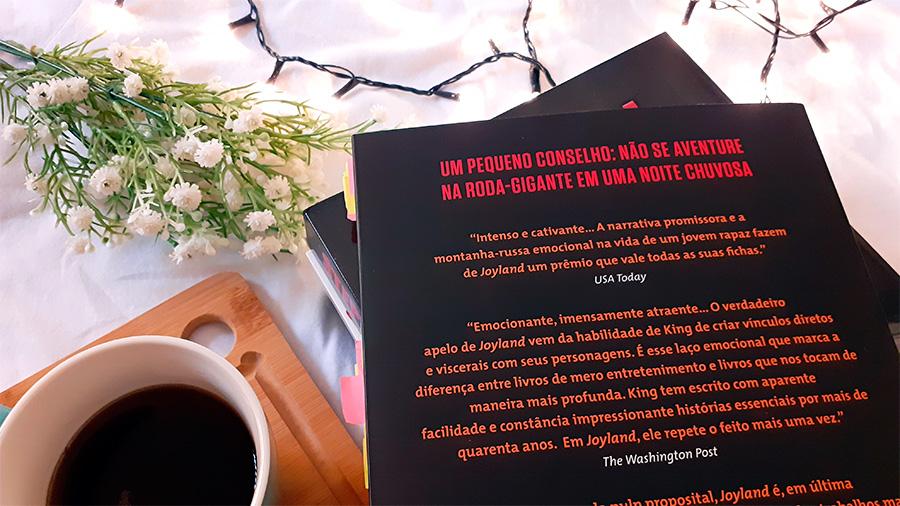 Detalhe da contracapa de Joyland, de Stephen King.
