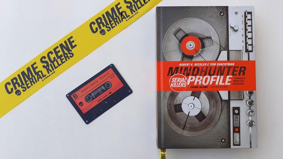 Capa do sorteio do livro Mindhunter Profile: Serial Killers